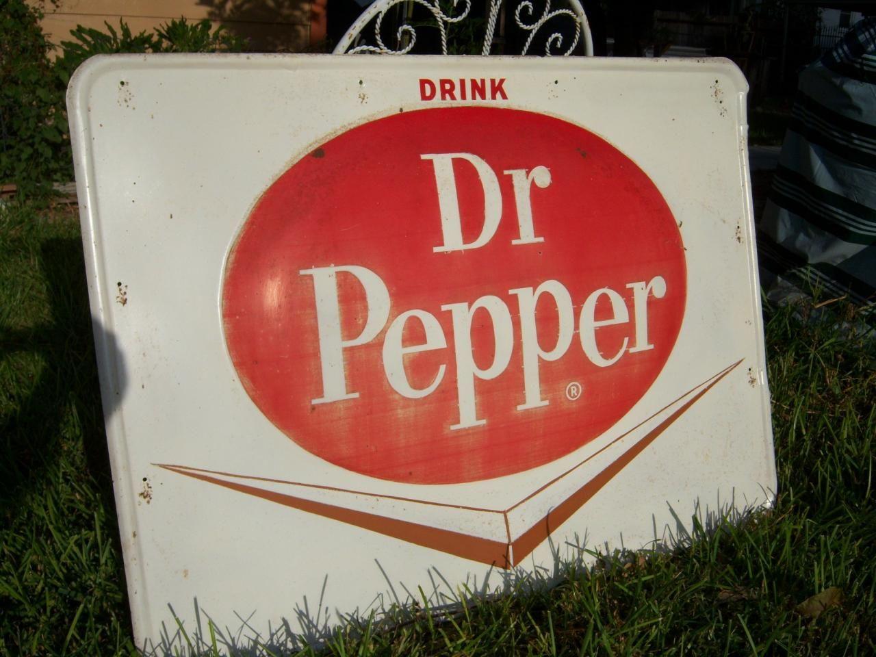 Vintage Dr Pepper Sign 18