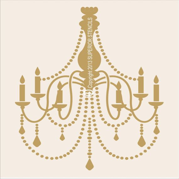 Stencils french chandelier stencil large 11tall x10 wide stencils french chandelier stencil large 11tall x10 wide beautiful pillow stencil wall mozeypictures Images