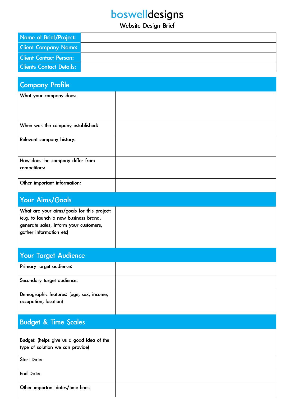 Website Design Brief Template Google Search Creative Brief Template Design Brief Template Business Card Template Design