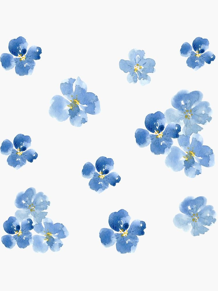 Fire Clover Sticker In 2020 Blue Flowers Blue Flower