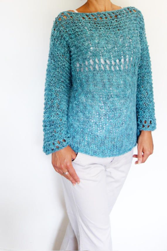 Sweater Knitting Pattern Lagoonloose Knit Sweater Open Knit