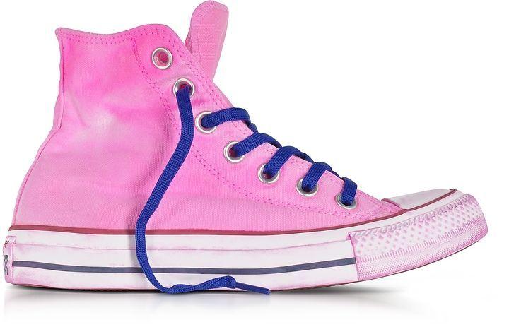 00bb7b3b4319 Converse Limited Edition Chuck Taylor All Star Hi Neon Fuchsia Canvas LTD  Sneakers