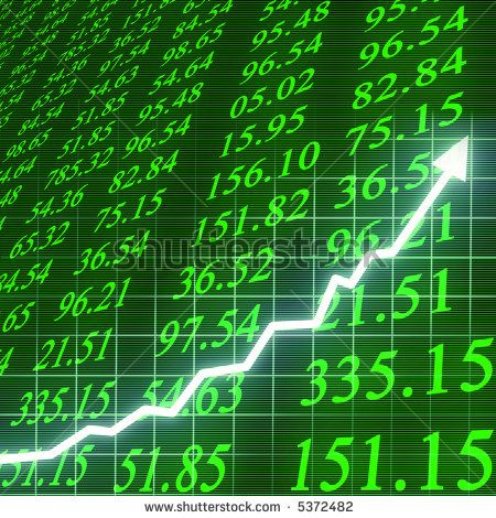 stock market closing prices stock photo stock market going up
