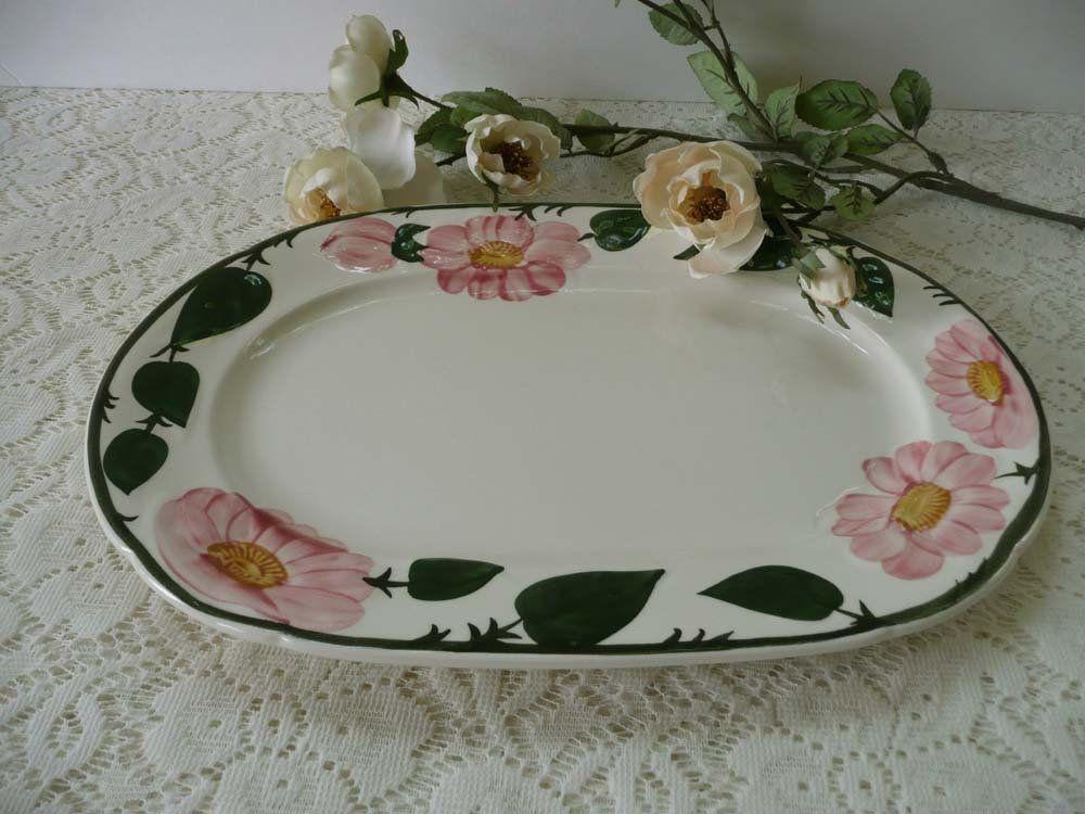 Pretty Vintage Villeroy Boch Wild Rose Oval Platter Tray 1748 By Mossycottage On Etsy Villeroy Boch Oval Platter Platters