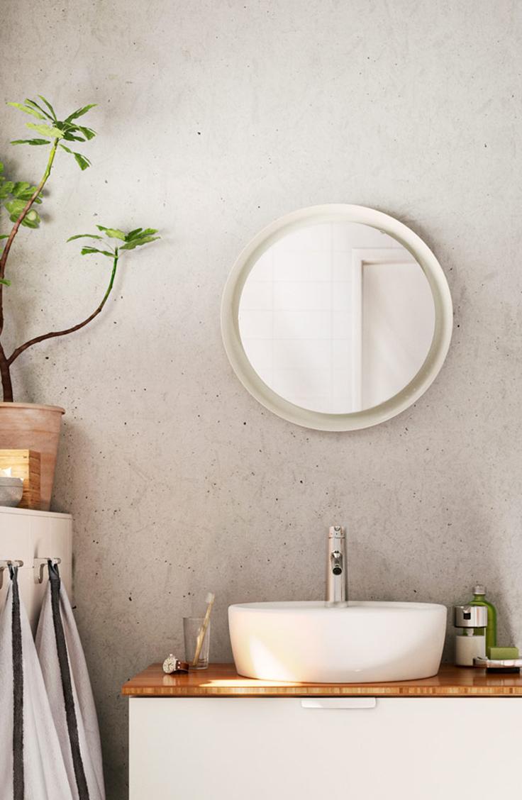 RÅGRUND Stoel met handdoekenrek Bamboe | Bathroom towels, Bathroom ...