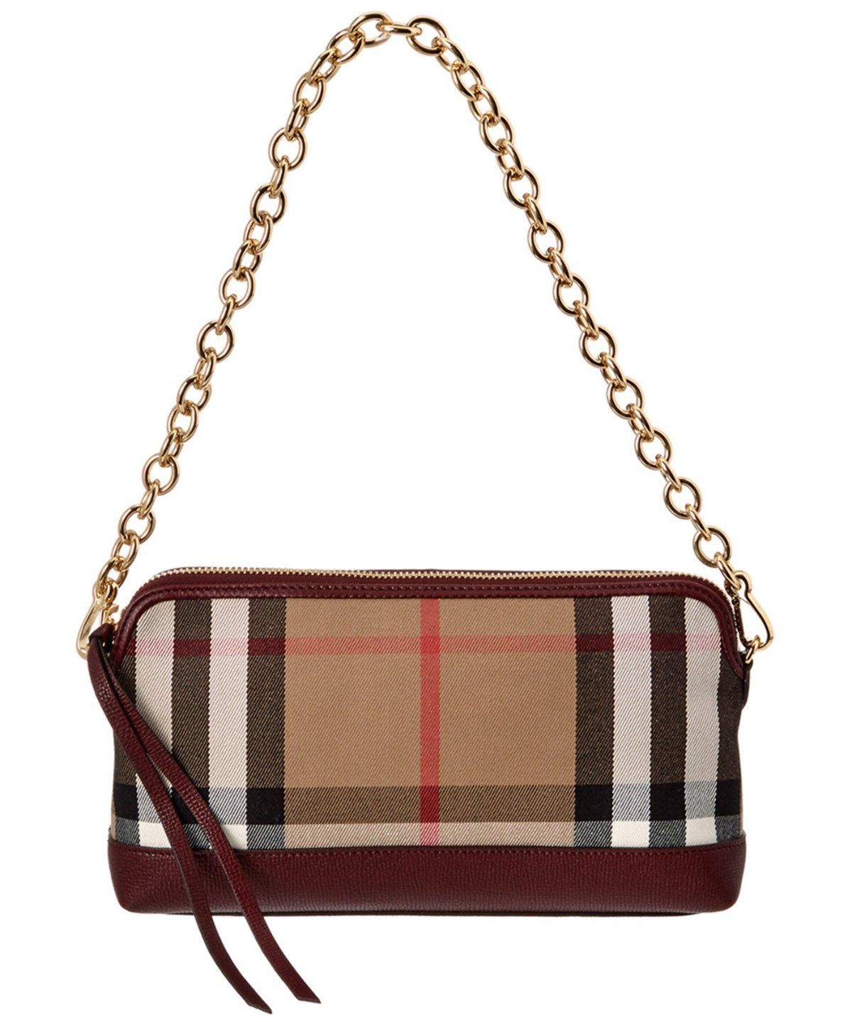 BURBERRY Burberry Abingdon House Check  Amp  Leather Clutch Bag .  burberry   bags  shoulder bags  clutch  lining  leather  hand bags   178c6ecaa2104