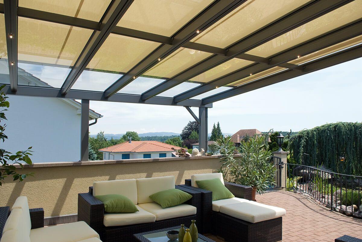 COBERTI Toldo horizontal para pérgola de aluminio con techo de ...