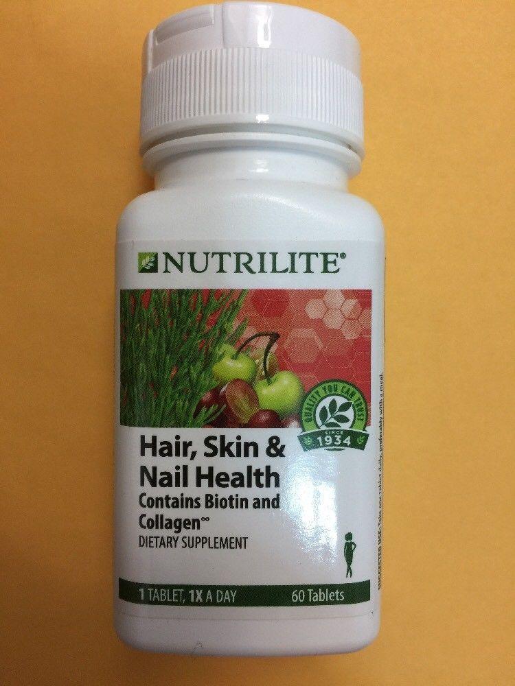 Nutrilite Hair Skin Nail Health 60 Tablets Exp 08 2019 With