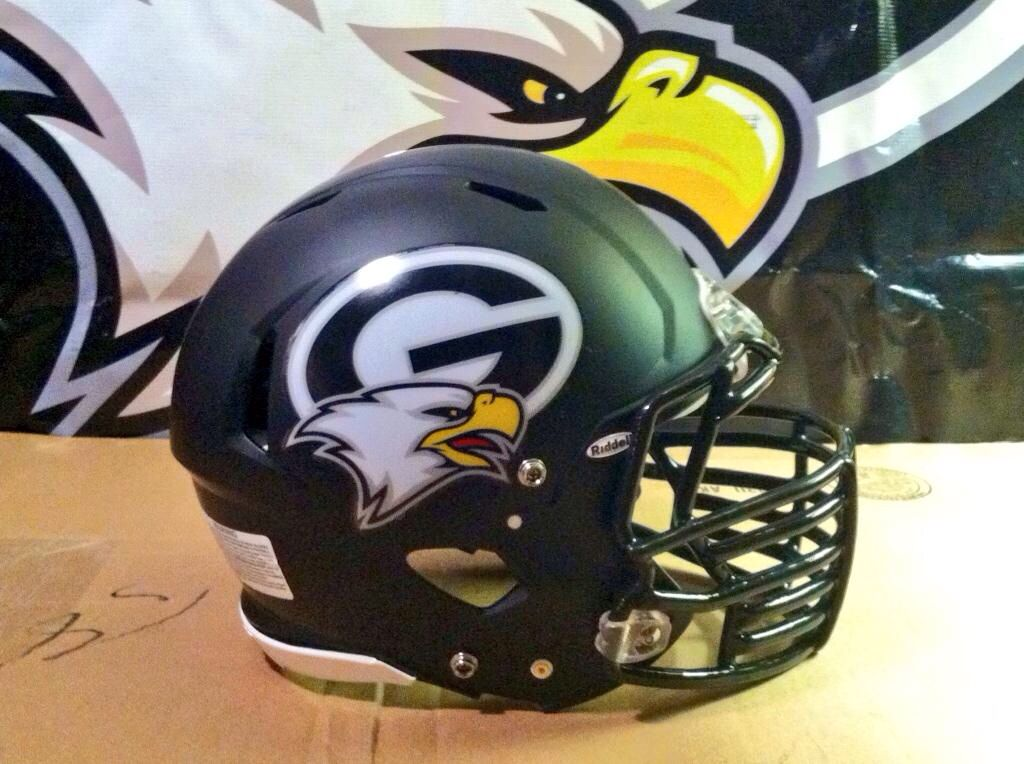 Check out the new matte finish football helmet decals for