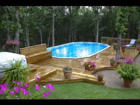 Above ground fiberglass pool deck google search garden for Above ground fiberglass pools