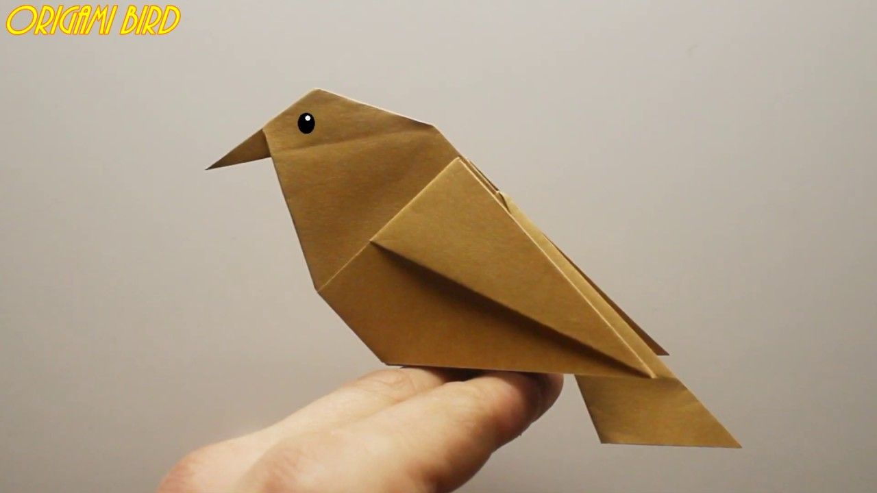 How to make a bird out of paper Origami bird