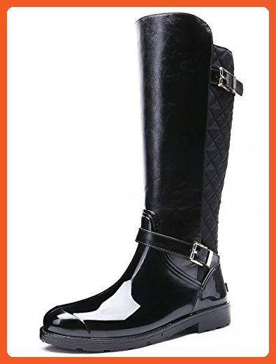 617592538c0dd TONGPU Buckled Decoration Eco-Friendly Pvc Women Rain Boots (10 ...