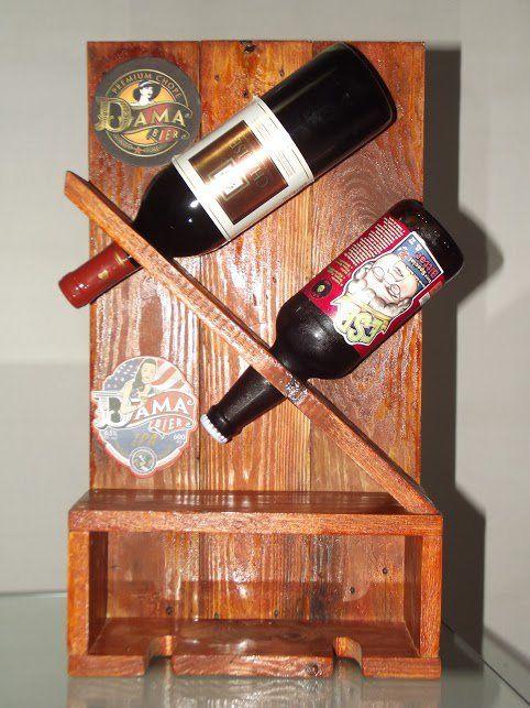 Vinoteca hecha con pallets