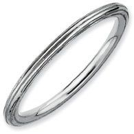 Elegant Joy Silver Stackable Rhodium Step Down Ring. Sizes 5-10 Available Jewelry Pot. $13.99. Fabulous Promotions and Discounts!. All Genuine Diamonds, Gemstones, Materials, and Precious Metals. 100% Satisfaction Guarantee. Questions? Call 866-923-4446. Your item will be shipped the same or next weekday!. 30 Day Money Back Guarantee