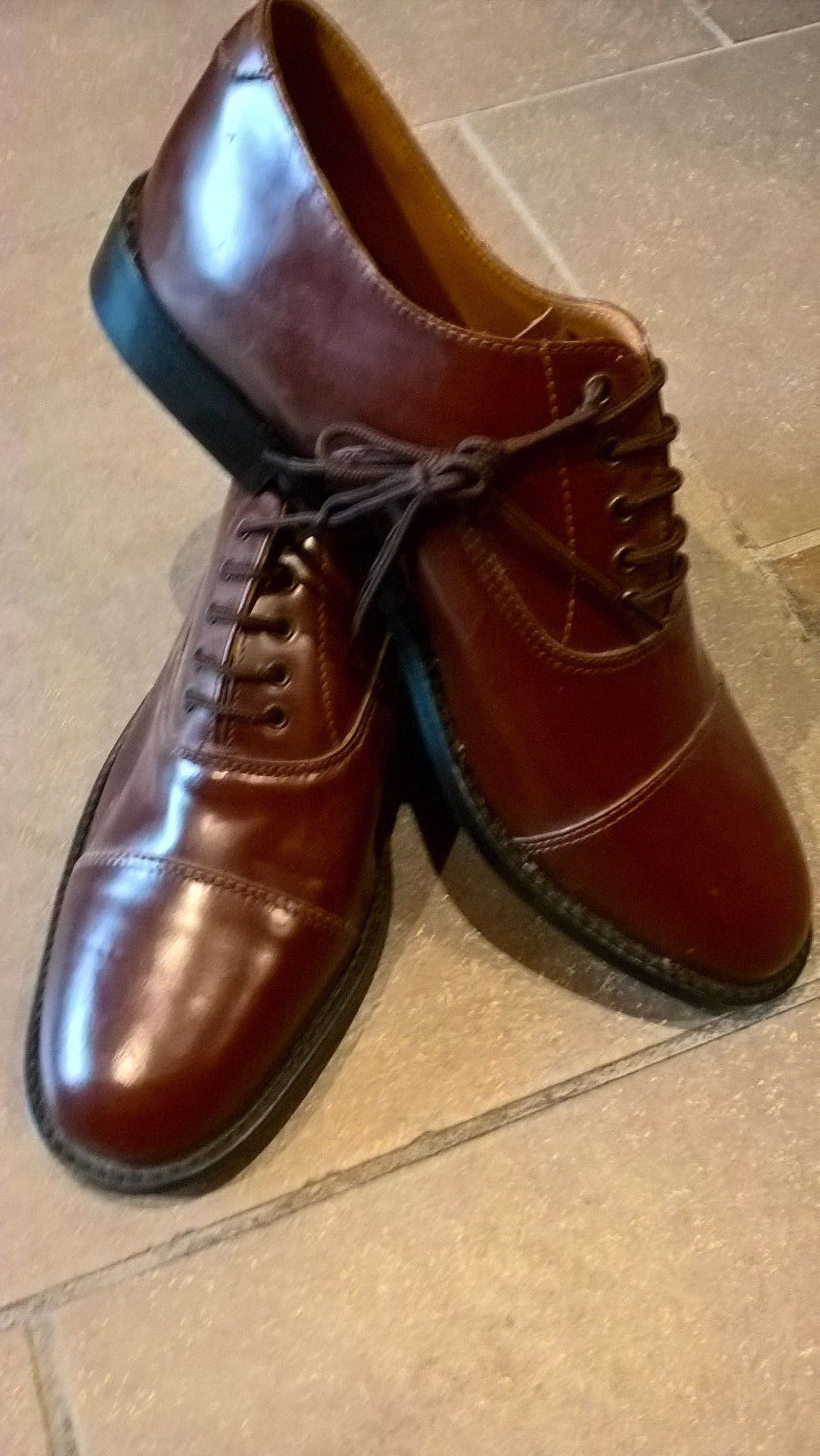 16807a834df6f Vintage shoes unworn brown leather size 8 Oxfords Marvel Fairs ...