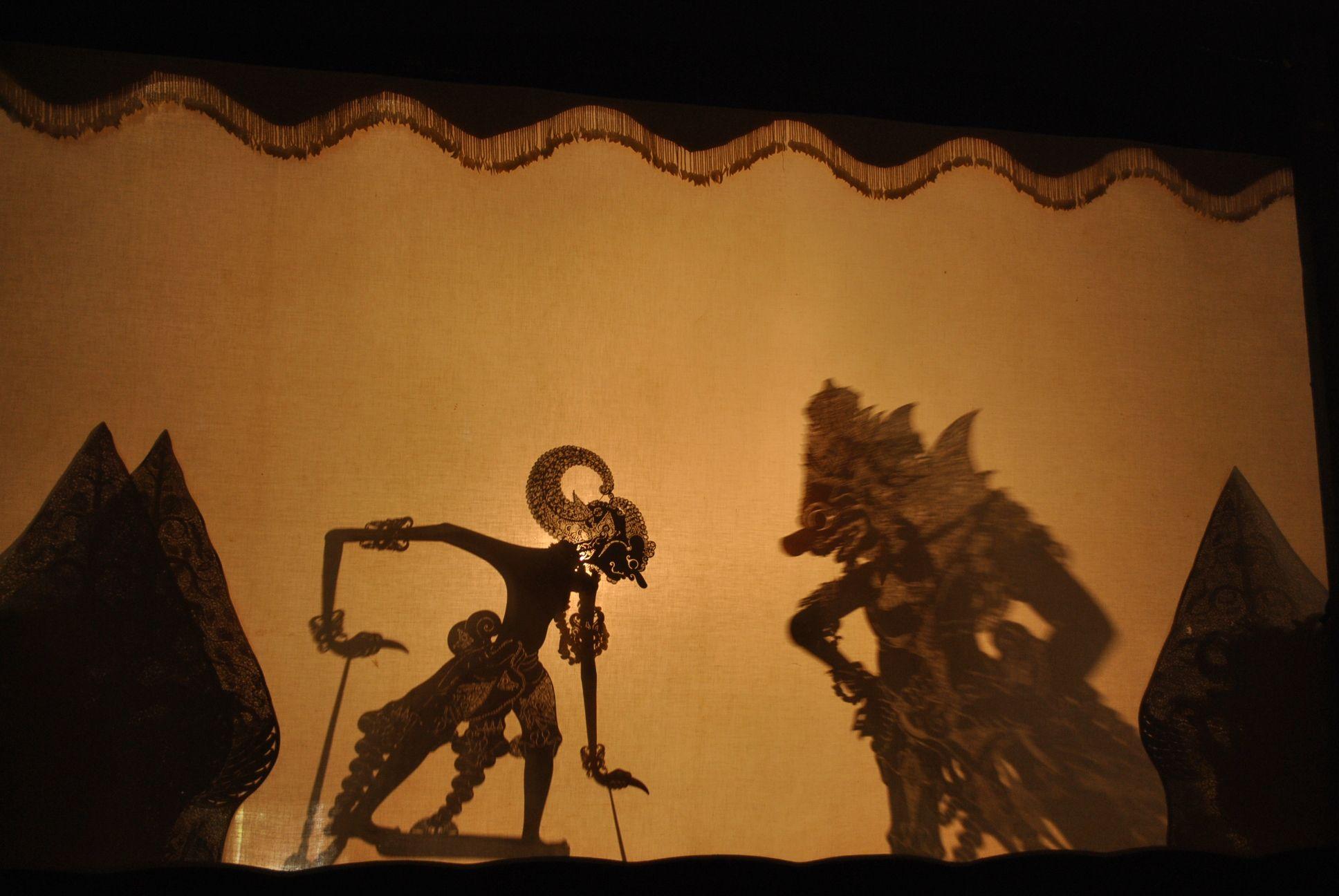 Wayang Kulit Show Shadow puppets, Java indonesia, Shadow