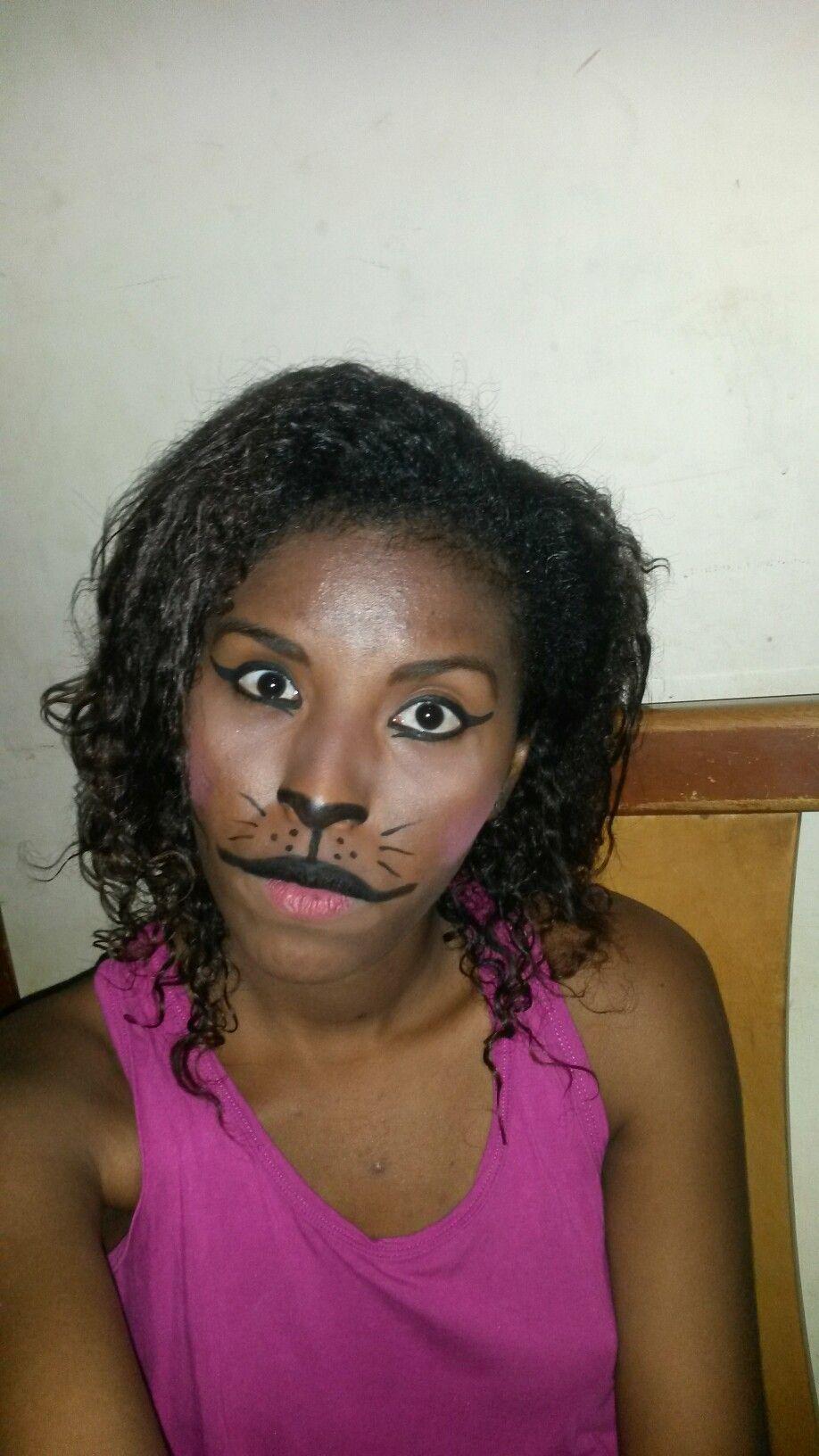 Maquillaje para hallowen de gatita