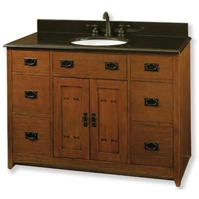 mission style vanity Arts and Crafts Furniture and Decoration