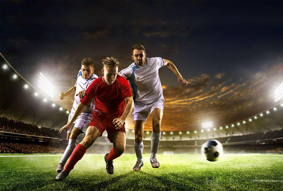 Фото открытка футболиста