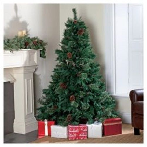 Christmas Tree 7ft Artificial Pine Cones Berries Traditional Holiday Decoration Tesco Traditional Christmas Tree Birch Tree Decor Christmas Birch Tree Mural