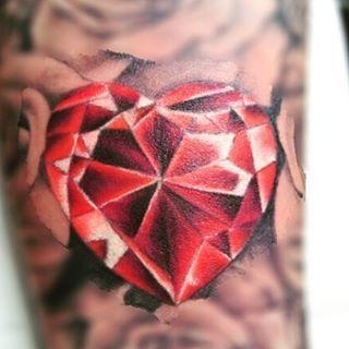 Diamond Tattoo Design Ultimate Heart Shaped Animated Diamond Tattoo Diamond Heart Tattoo Heart Tattoo Diamond Tattoos