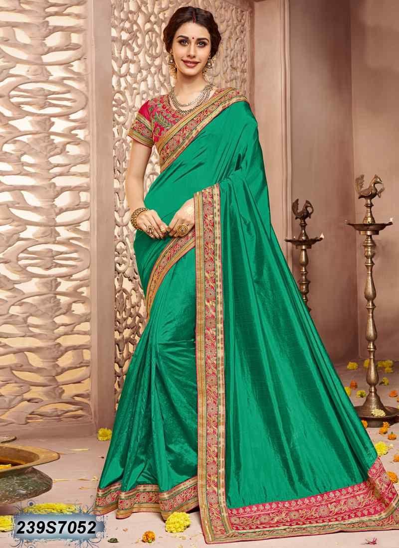 c1a0d46dca51df Elegant Green Coloured Dhupian Raw Silk Saree   Buy Handloom Silk Sarees