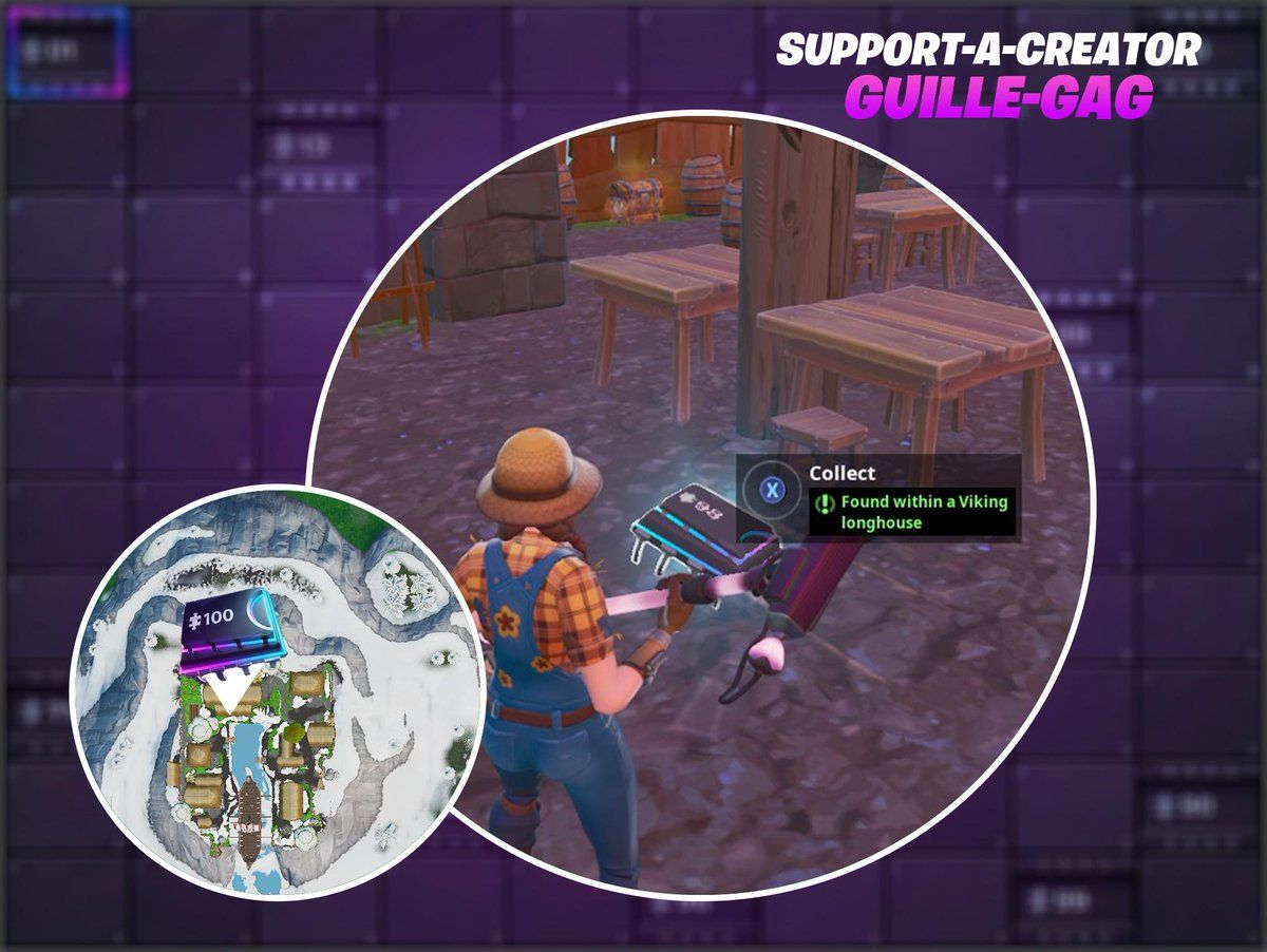 Fortnite Fortbyte 98 Location Found Within A Viking Longhouse