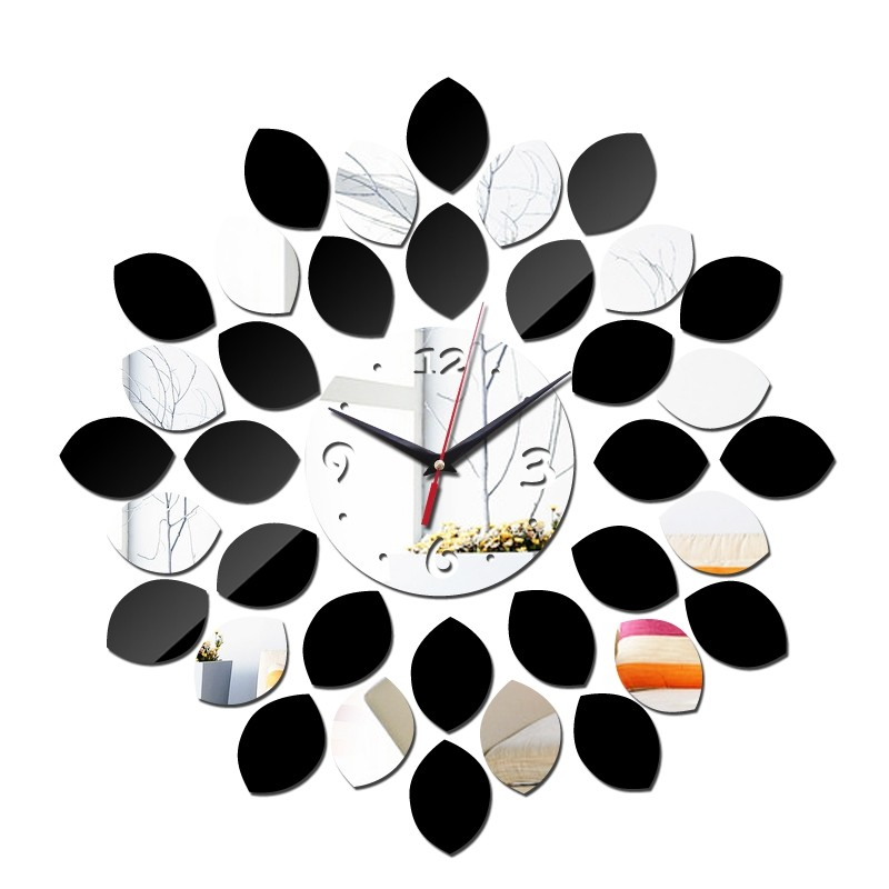 Artistic Wall Clock Leaf Pattern Design Diy Home Decor Gift Idea In 2020 Wall Clock Design Diy Clock Wall Wall Clock Modern