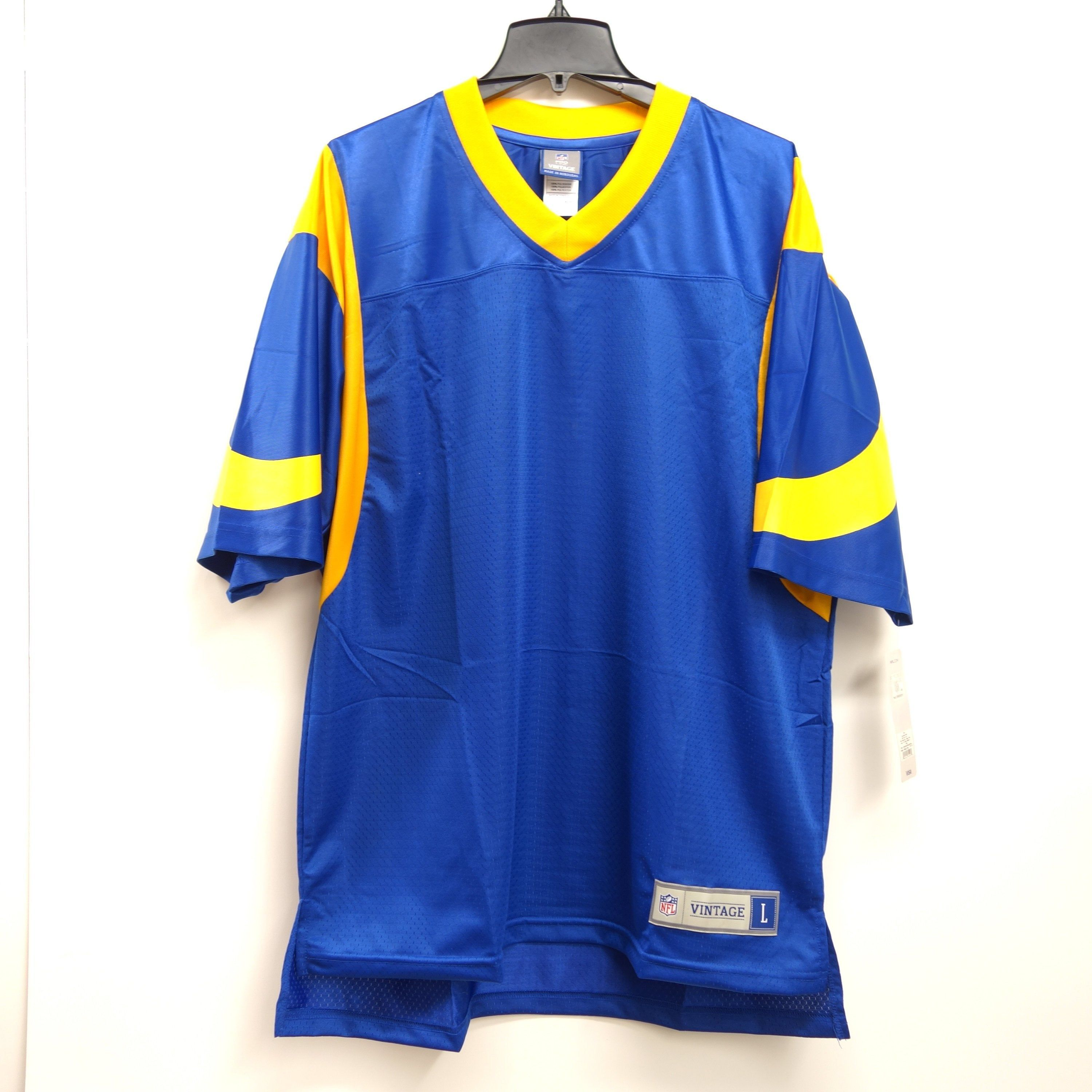 Nfl Vintage Mens Size Xl Los Angeles Rams Retro Replica Vintage Blank Personalized Throwback 80 S Jersey Eric Dickerson Nfl Vintage Sports