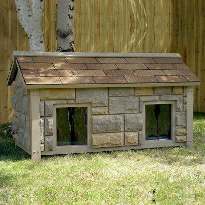 Build A Two Room Dog House Dog House Diy Luxury Dog House Dog Houses