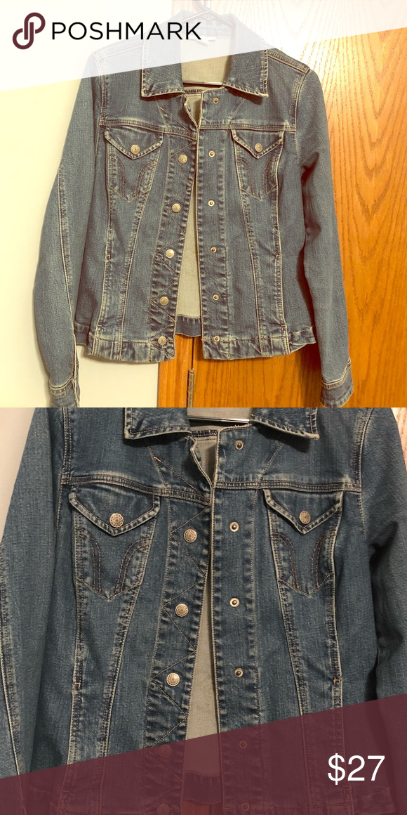 9c78e966cf6 Jean Jacket Dress Barn Jean Jacket Size medium 8/10 Dress Barn Jackets & Coats  Jean Jackets