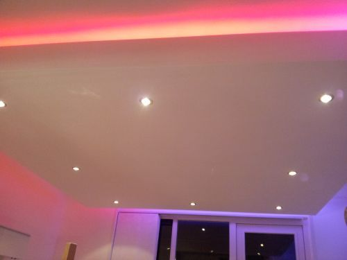 Pin by Ledstrip-specialistnl on Led strip woonkamer Pinterest - faux plafond salle de bain pvc
