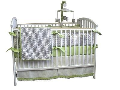 Bebe Chic Metro 4 Piece Bedding Set. See More Unisex Beddings at http://www.ourgreatshop.com/Unisex-Beddings-C1141.aspx