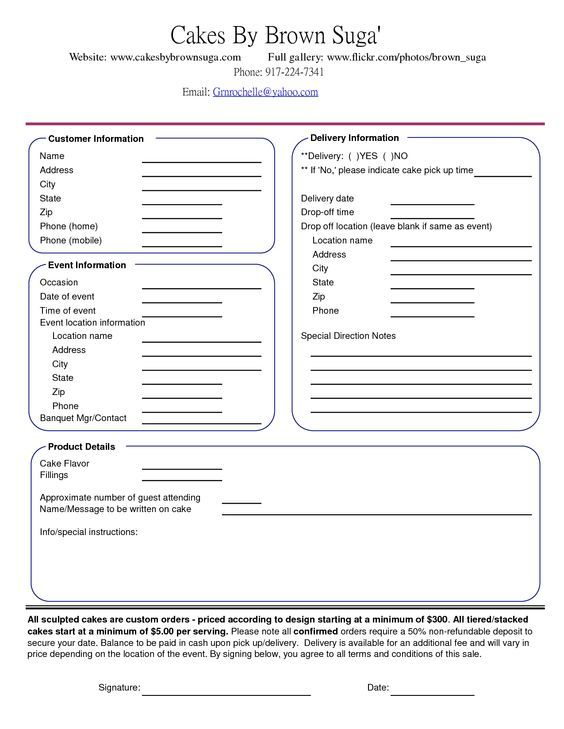 cake order contract Banquet Event Order Form My cakes ideas - holiday leave form template