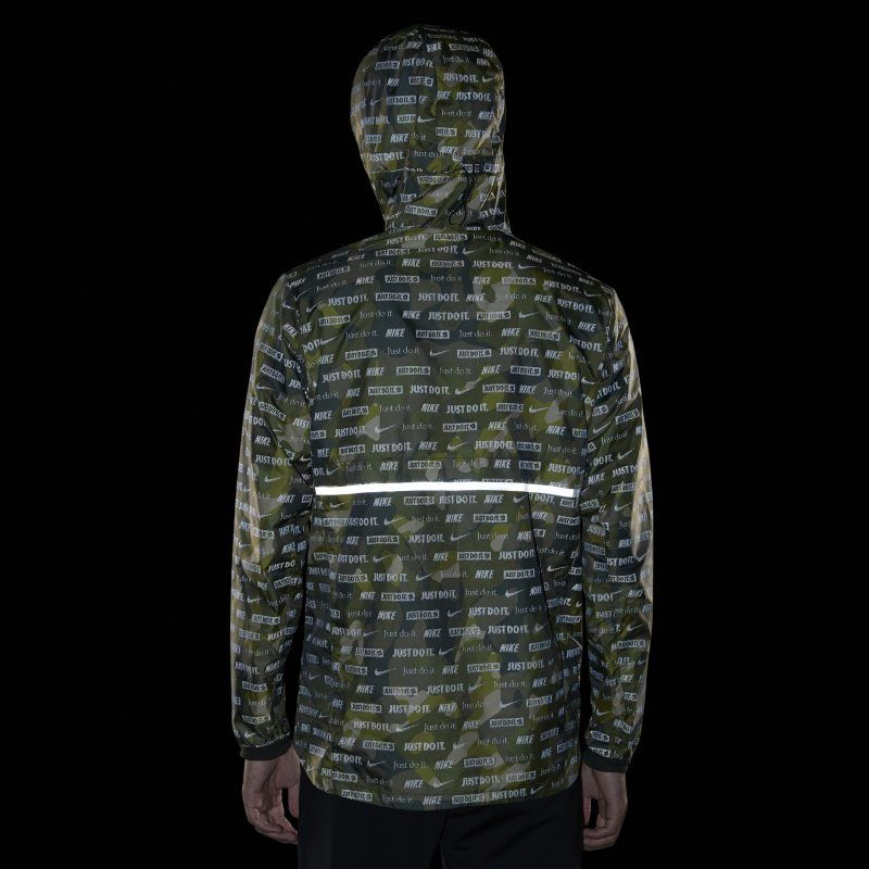 online retailer b7f06 e3444 Nike Shield Ghost Flash Men s Running Jacket - Olive