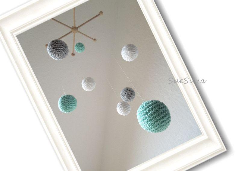 Dekoration - Mobile BingBong M - ein Designerstück von Suesuza bei DaWanda