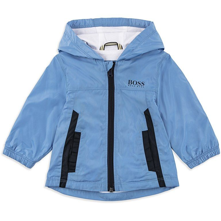 2a1a6c19a BOSS BABY Baby Boys Hooded Logo Windbreaker - Blue Baby hooded ...