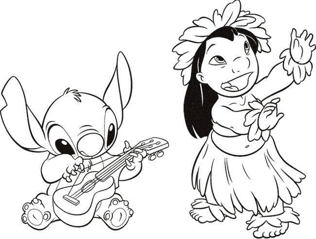 Hula Girl Coloring Pages