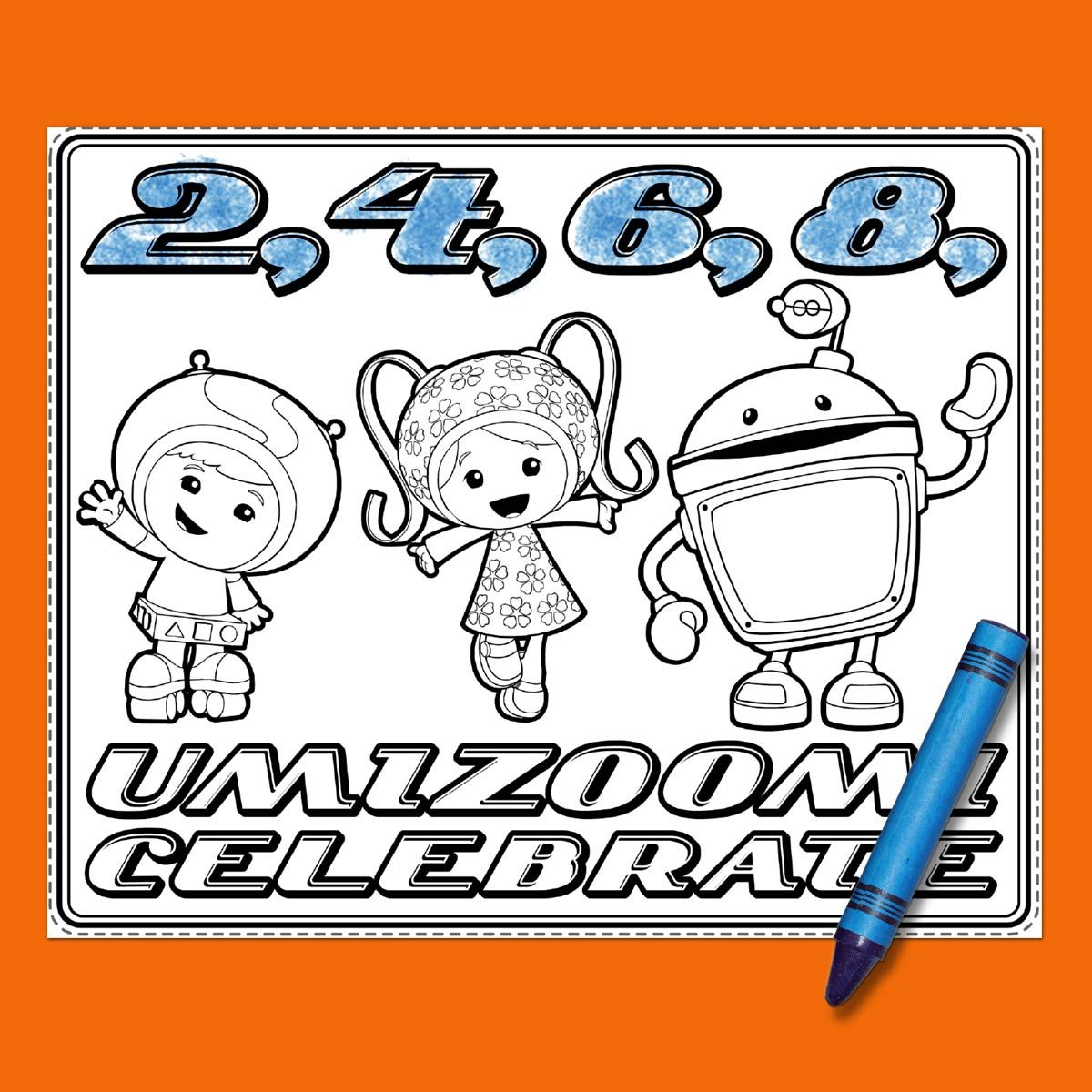 Team Umizoomi Birthday Party Placemats | Lugares