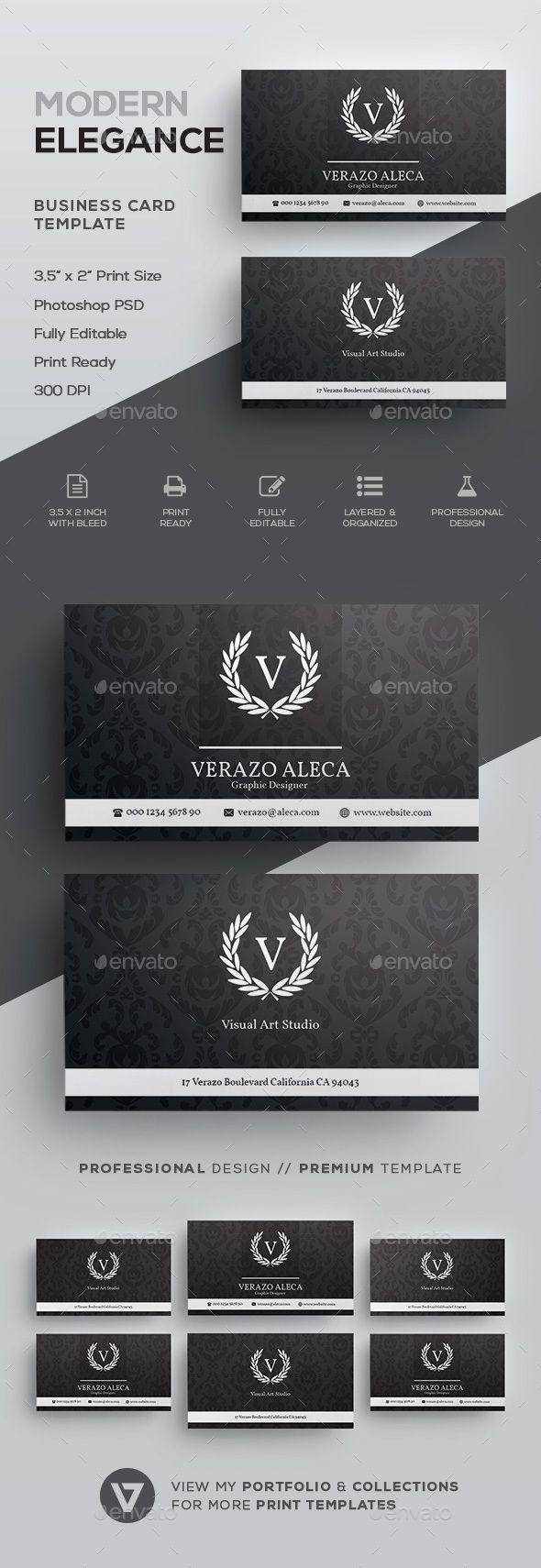 Elegant business card template cartes de visita visita e carto elegant business card template reheart Gallery