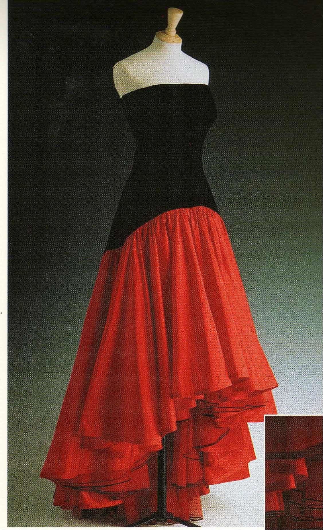 Red and Black Flamenco Dress by Murray Arbeid 1987 | Maltese cross ...
