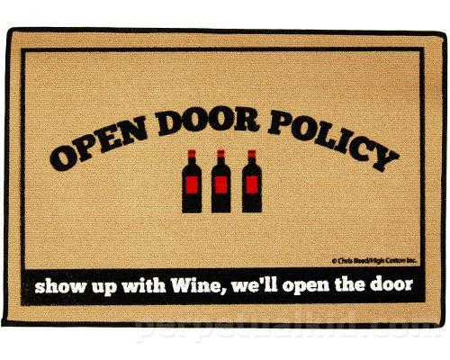 Open Door Wine Policy