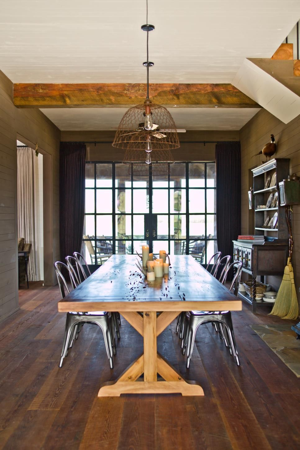 Perfect Farmhouse Set Apart By Unique Industrial Country Style Funky. Modern Farmhouse  Dining Room ...