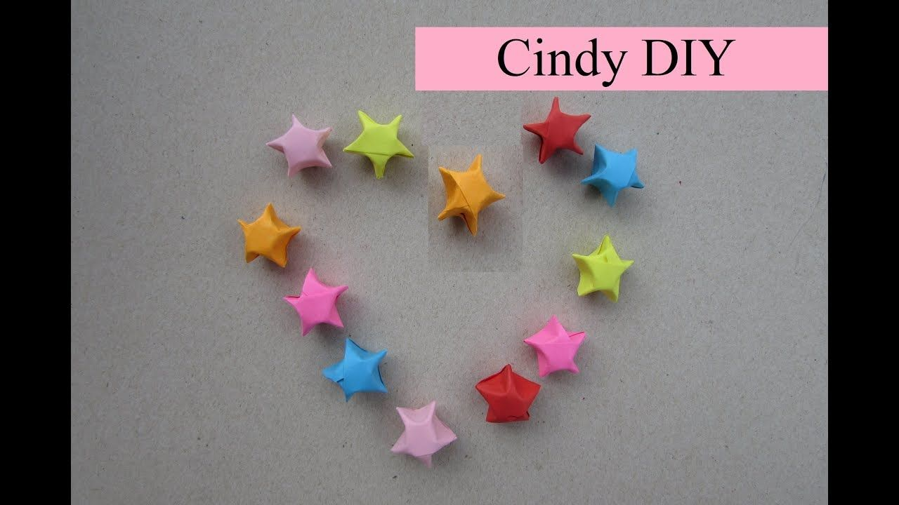 Lucky Star Easy Origami 3D Paper Tutorial Cindy DIY The Video In Term Of Box 3d