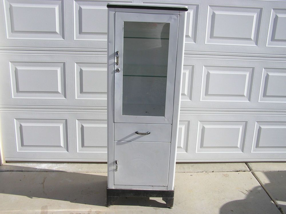 Vintage, Antique, Metal, Medical Style Cabinet by: Shampaine Co ...