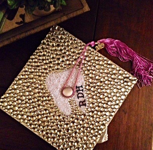 My Rdh Graduation Cap Rdh Pinterest Cap Dental And