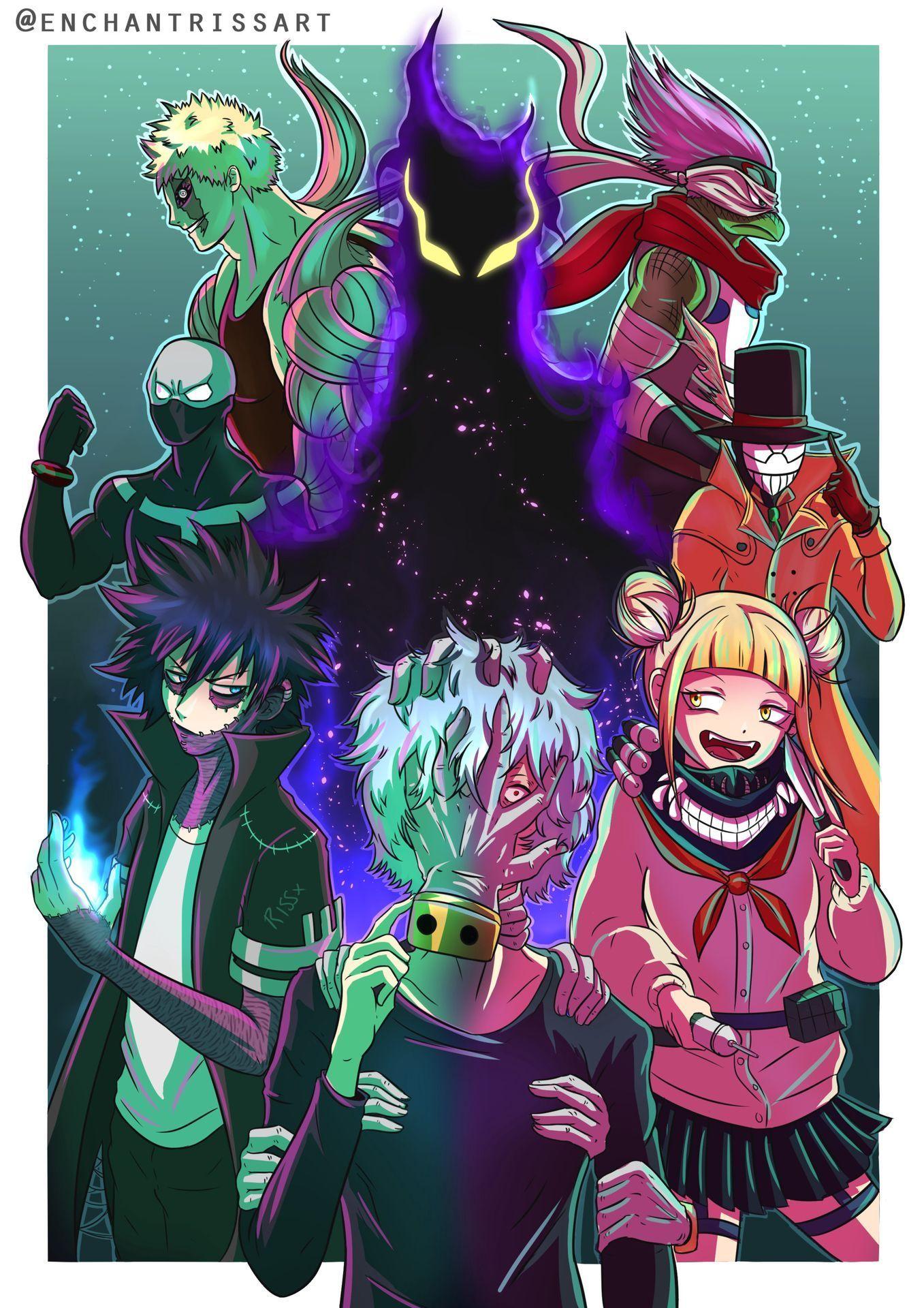 Mha Bnha Picture Book League Of Villians Anime Villians Anime My Hero Academia Episodes