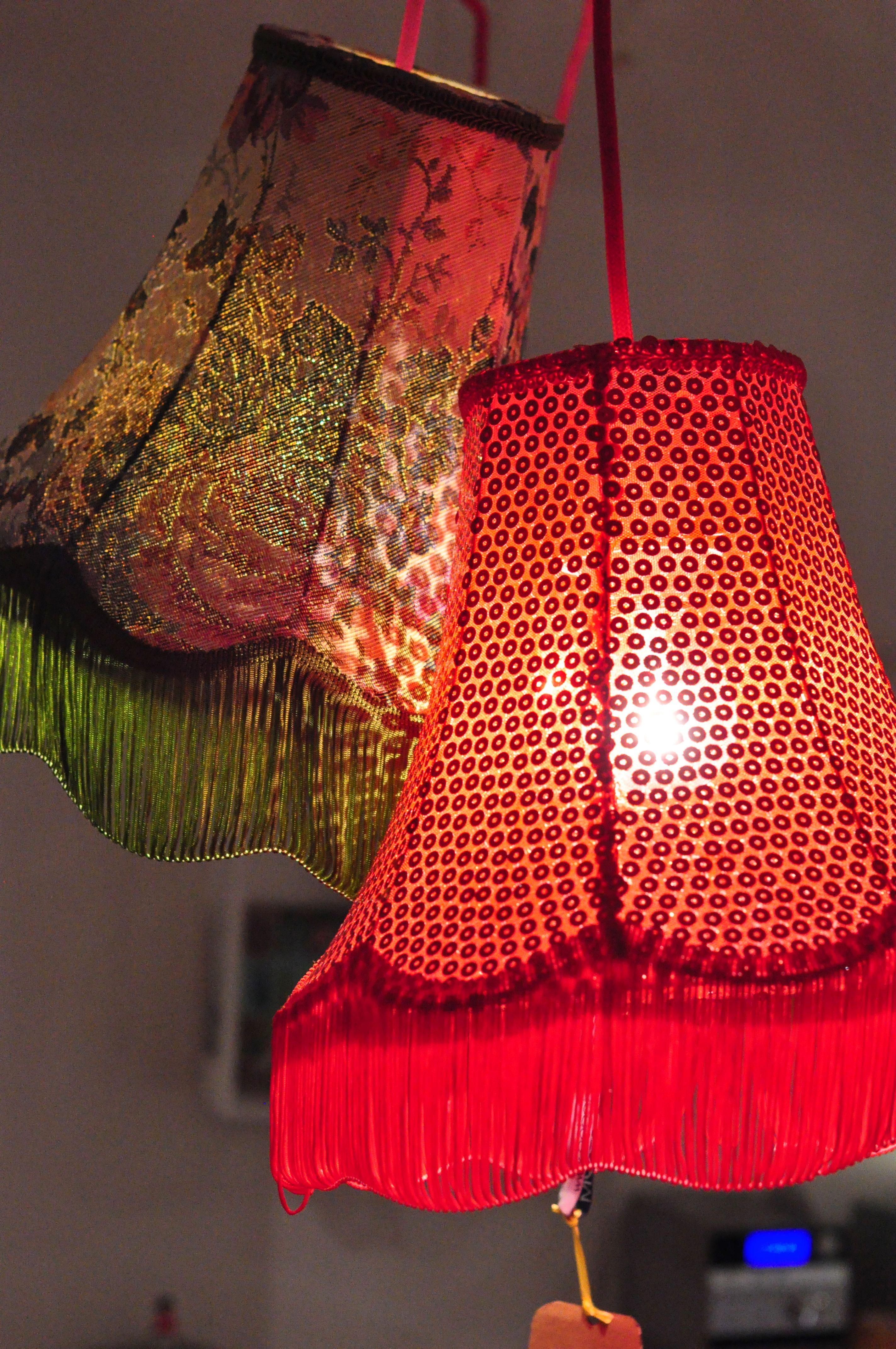 Abat Jour Vintage.Abat Jour Boboboom Lampe Kitch Retro Sequin