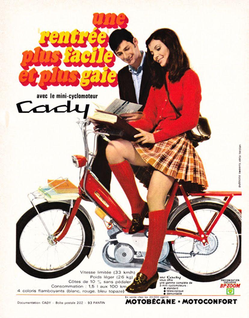 Affiche Originale Cady Mobylette Motobecane Motoconfort