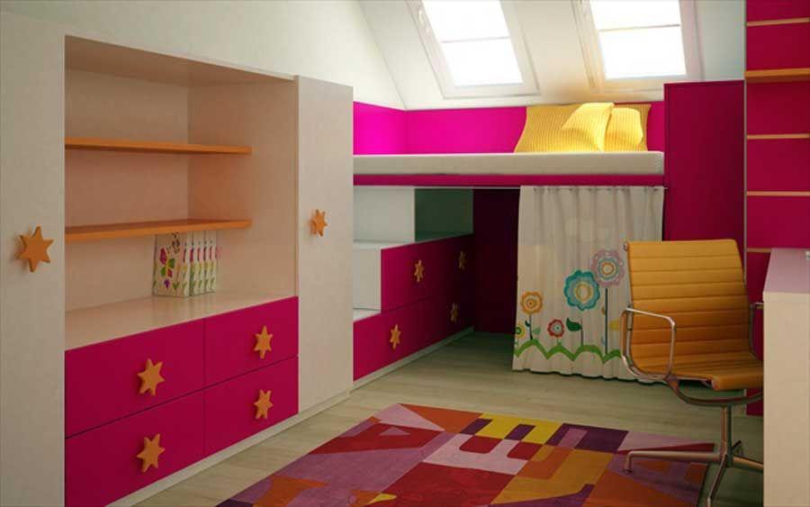 bedrooms Ideas Pinterest Niñas, Habitaciones de niñas pequeñas - diseo de habitaciones para nios